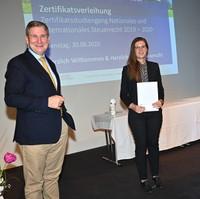 Abschluss des Zertifikatsstudiengangs Nationales und Internationales Steuerrecht