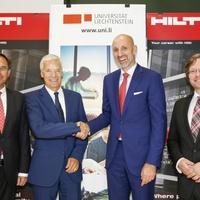 Hilti und Universität Liechtenstein verlängern Zusammenarbeit