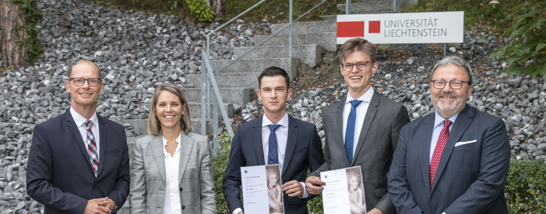 Philip Maximilian Daub und Luca Ritter erhalten LGT University Scholarship