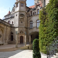 Sigmaringen Castle and the Beuron Monastery in the Danube valley
