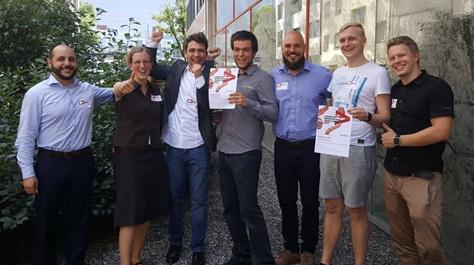 v.l.: Kevork Altanian (Accenture), Dr. Theresa Schmiedel, Jan-Peter Kucklick, Christian Huck, Shaho Alaee, Harry Tobias Riegger und Roope Jaakonmäki (alle Universität Liechtenstein).