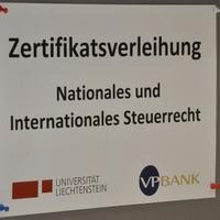 Zertifikatsverleihung Nationales und Internationales Steuerrecht