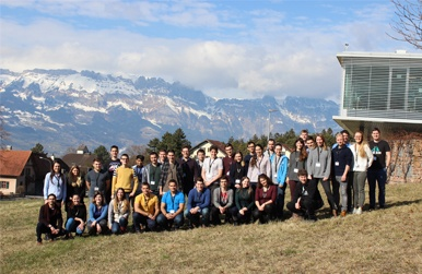 Participants from all over the world at the Liechtenstein Winter School 2017