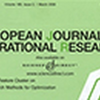 Top publication in the European Journal of Operational Research