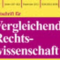 Zeitschrift für Vergleichende Rechtswissenschaft – special issue on Liechtenstein
